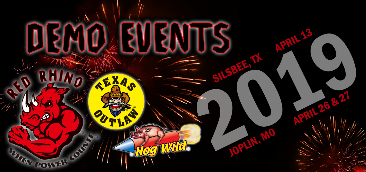 red rhino fireworks demo event
