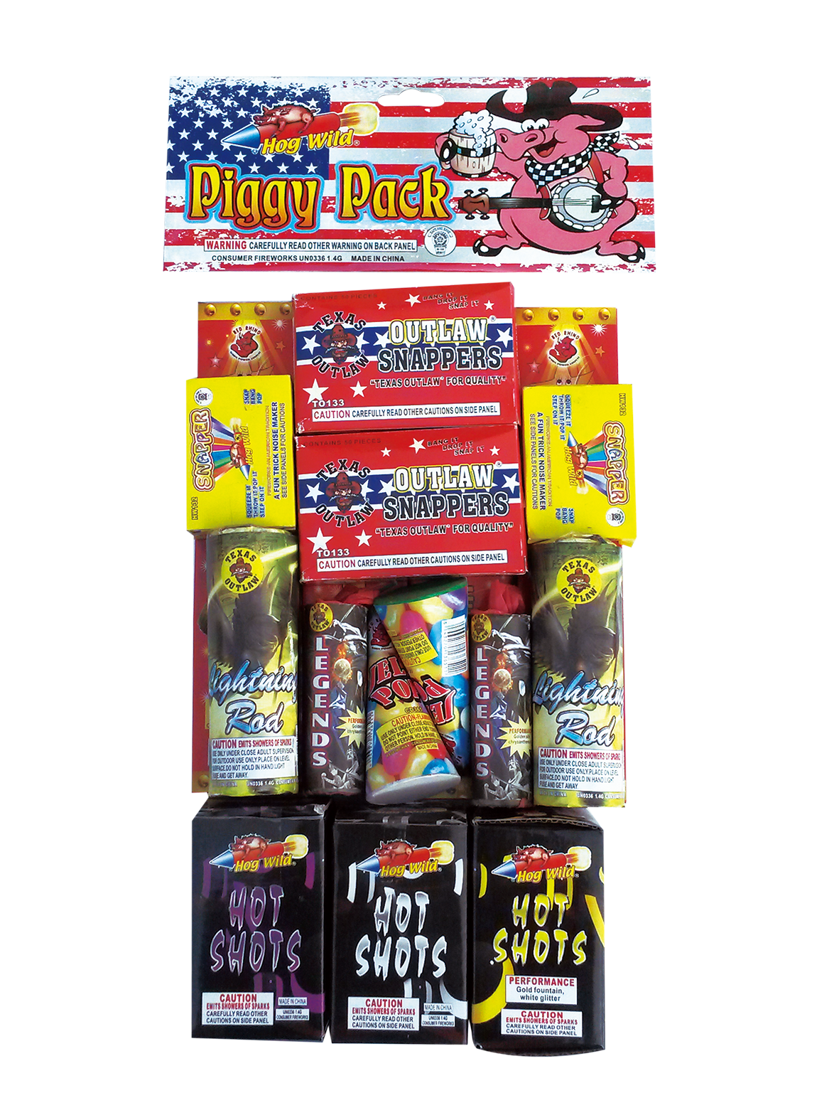 Piggy Pack Safe And Sane Bag Red Rhino Wholesale Fireworks