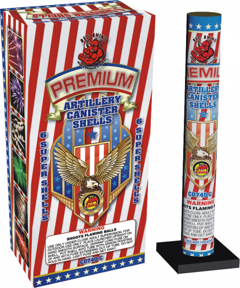 Premium Artillery Canister Shells | Red Rhino Wholesale